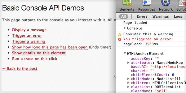 Console API Demos