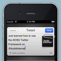 Tweet Sheet &#8211; Creating a Popup Tweet in iOS 5