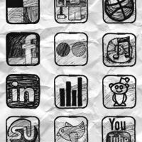Sketchy Social Media Icons Freebie