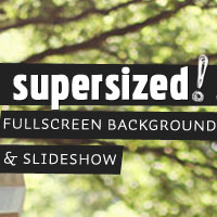 Supersized 3.1 jQuery Plugin &#8211; Fullscreen Background Slideshow with Flickr Support