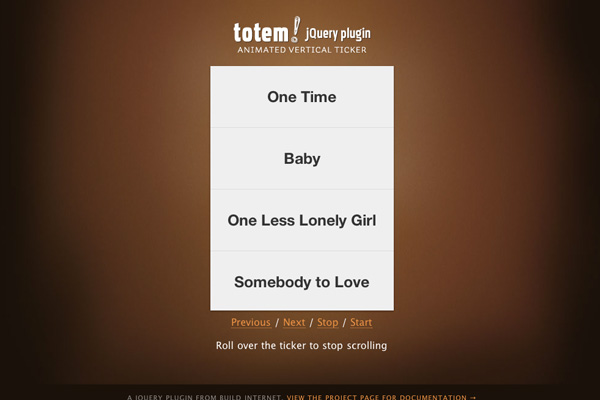 Totem Ticker jQuery Plugin
