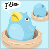 Freebie Fiesta – Twitter Bird & Egg Illustrations