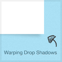 Warping Drop Shadows to Give Depth