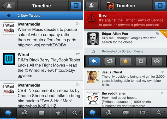 Tweetbot Alert Example