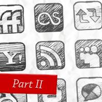 Sketchy Social Media Icons Freebie Part 2